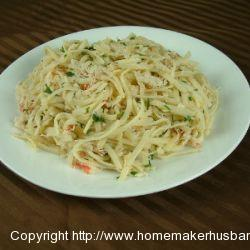 Crab Linguine in White Wine Sauce