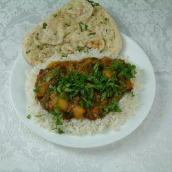 Saag Aloo with Coconut Masala Sauce
